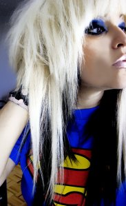 black white long emo haircuts for girls