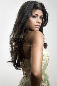 Beautiful long black hairstyle