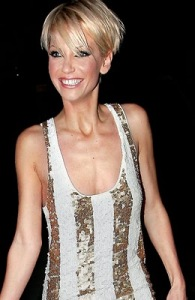 Celebrity Sarah Harding With Short Blonde Hairstyle